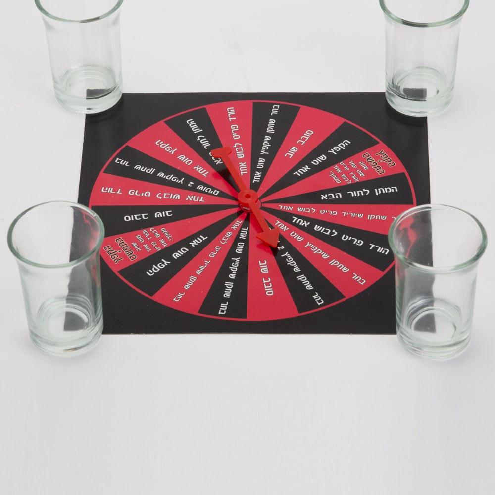 משחק שתיה גלגל משימות בעברית K400001-1
