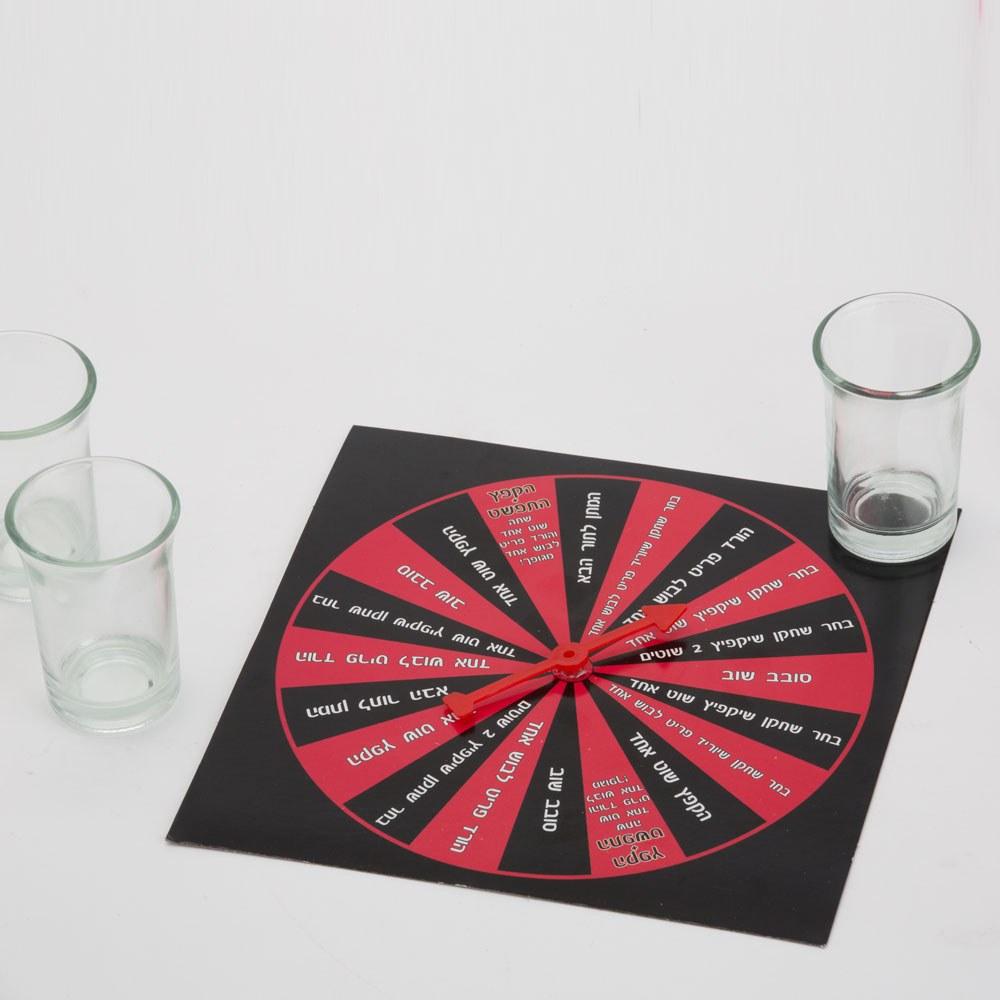 משחק שתיה גלגל משימות בעברית K400001-2
