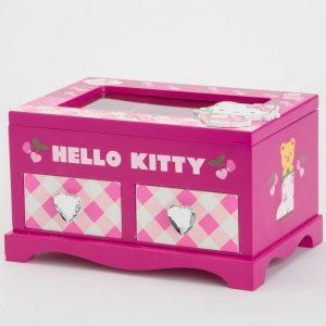 קופסת תכשיטים הלו קיטי עם 2 מגירות -