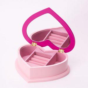 קופסת תכשיטים לב הלו קיטי -