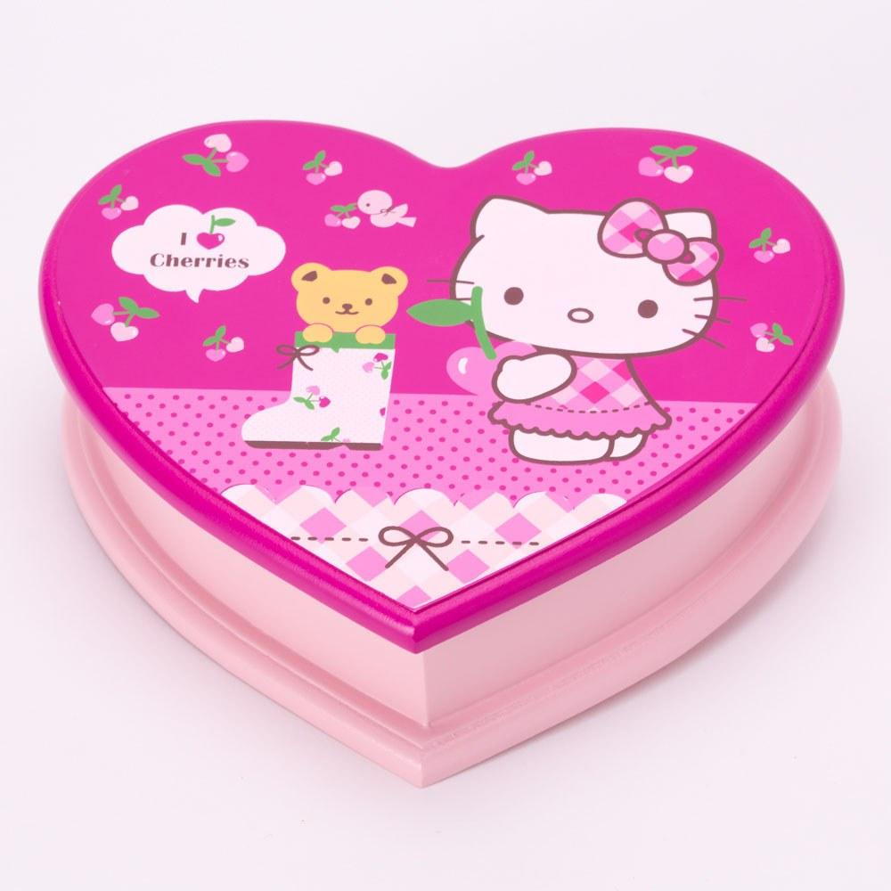 קופסת תכשיטים לב הלו קיטי