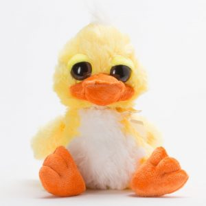 בובת ברווז 22 סמ פרוותית עם עיניים גדולות -