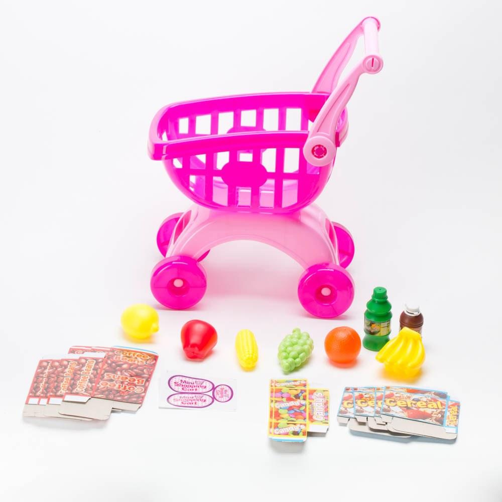 עגלת קניות עם 18 מצרכים ואביזרים