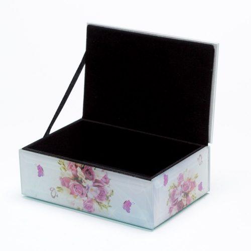 קופסת תכשיטים מלבנית לאמא מזכוכית K400168-1
