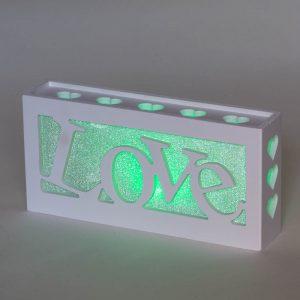 מנורת לד LED אהבה LOVE מחליפה צבעים -