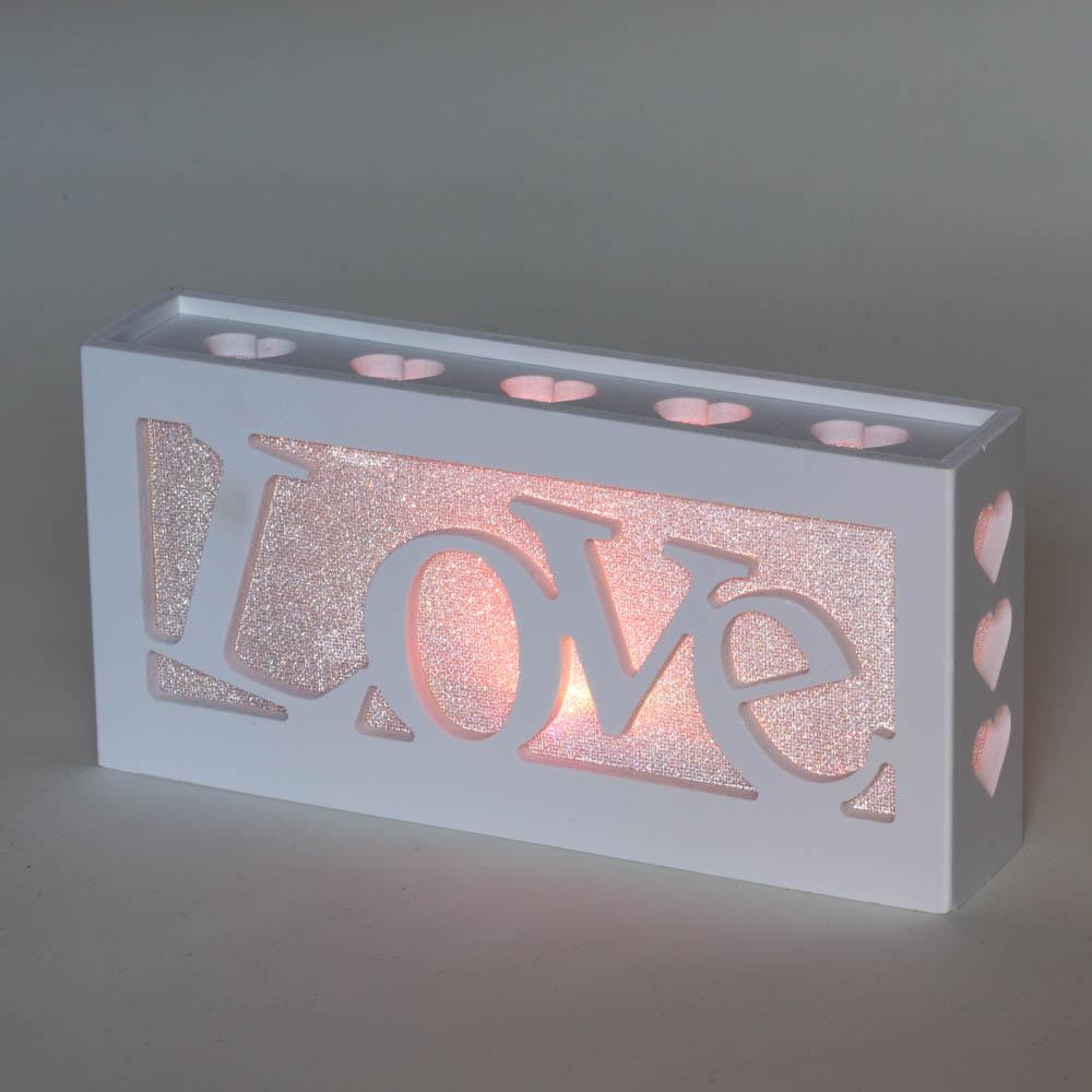 מנורת לד LED אהבה LOVE מחליפה צבעים