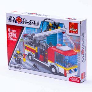 משחק הרכבה לגו משאית כיבוי אש 196 חלקים -
