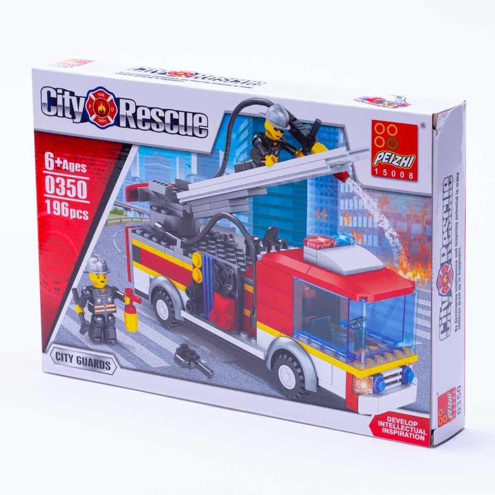 משחק הרכבה לגו משאית כיבוי אש 196 חלקים