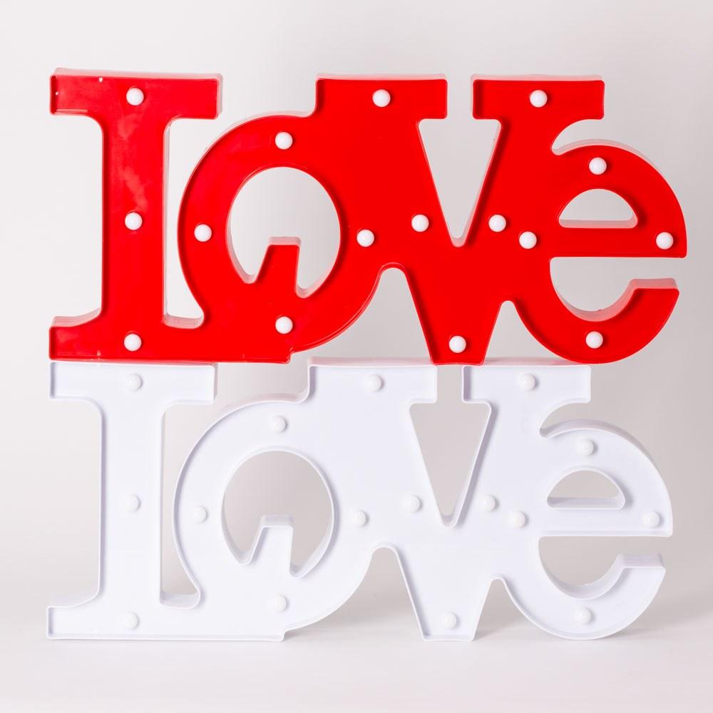 מנורת לילה לד מעוצבת אהבה LOVE לחדרי ילדים