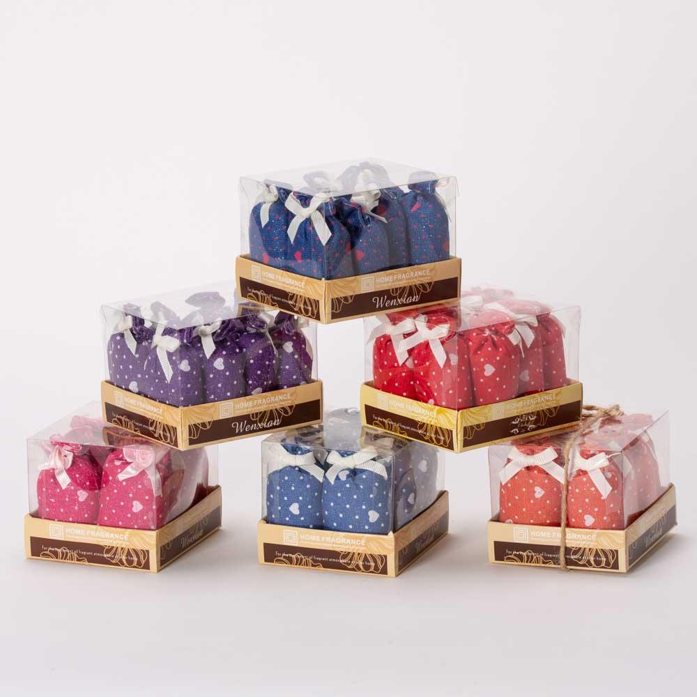 8 שקיות בד ריחניות ומנצנצות בקופסה K400302