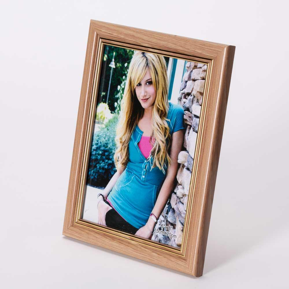 מסגרת לתמונה שולחנית חומה מעץ 23X18