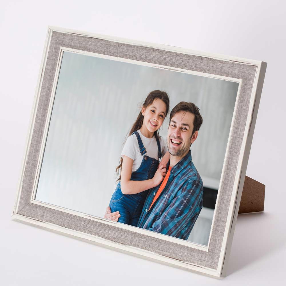 מסגרת לתמונה שולחנית אפורה מעץ 26X34.5