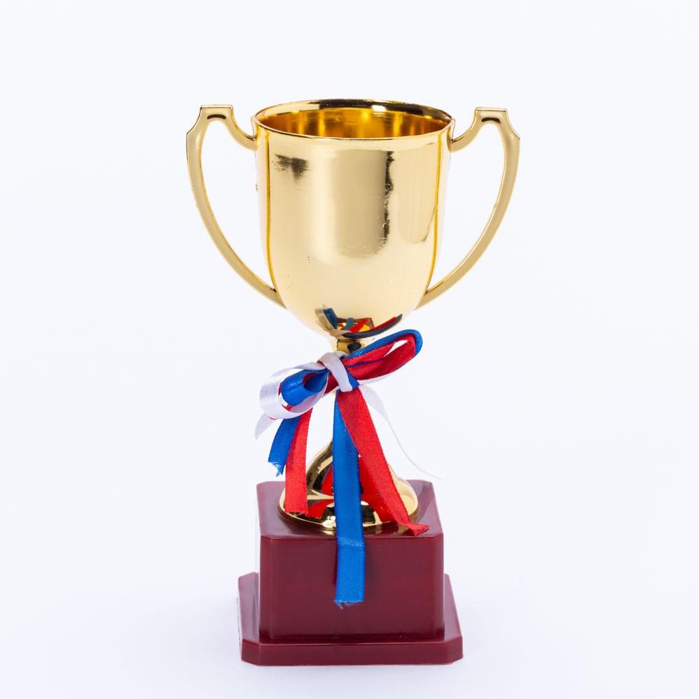 """גביע ניצחון זהב מפלסטיק 22 ס""""מ מתנה לסוף שנה K300201"""