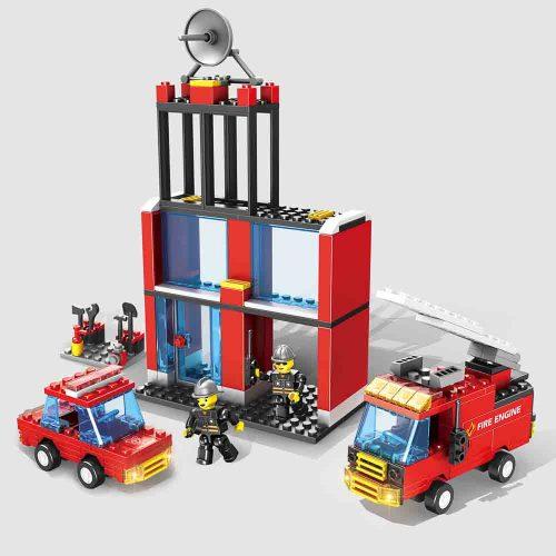 משחק הרכבה לגו תחנת כיבוי אש 245 חלקים K200429-1