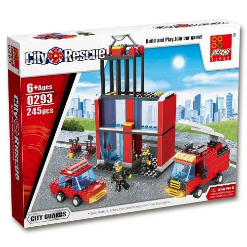 משחק הרכבה לגו תחנת כיבוי אש 245 חלקים K200429