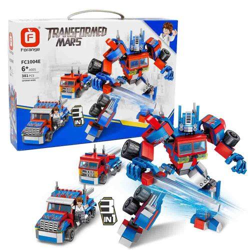 משחק הרכבה לגו 3 ב-1 רובוט ומשאיות 381 חלקים K200559