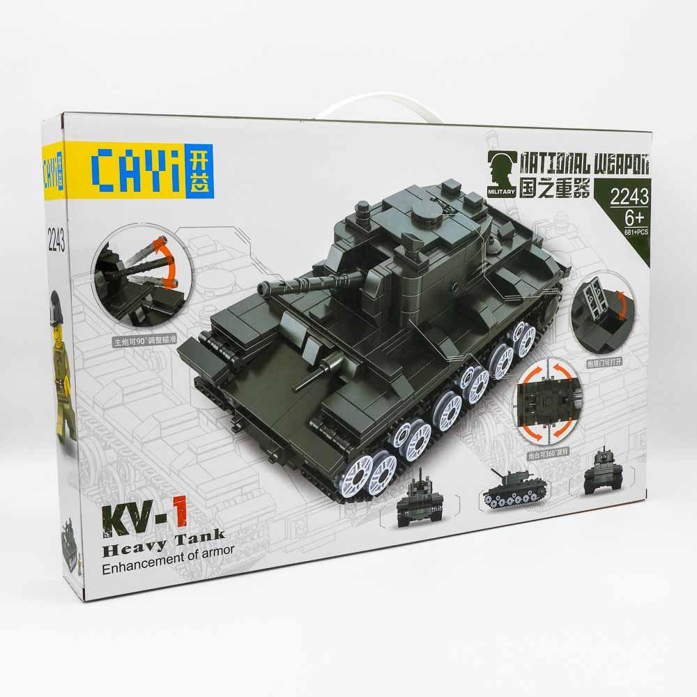 משחק הרכבה לגו טנק KV-1 צבאי 681 חלקים K200564-1