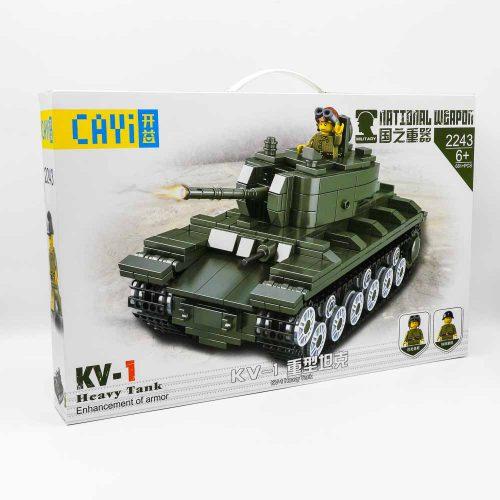 משחק הרכבה לגו טנק KV-1 צבאי 681 חלקים K200564