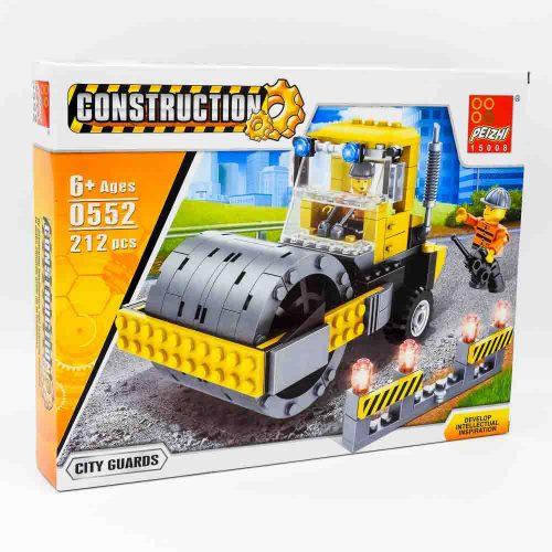 משחק הרכבה לגו טרקטור צהוב 212 חלקים עם בובות לגו של מהנדסים K200604
