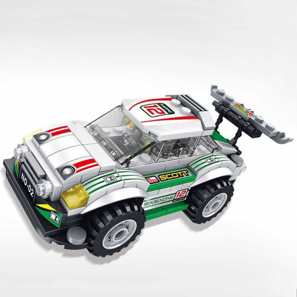 משחק הרכבה לגו מכונית מרוץ לבנה 173 חלקים K200606-1
