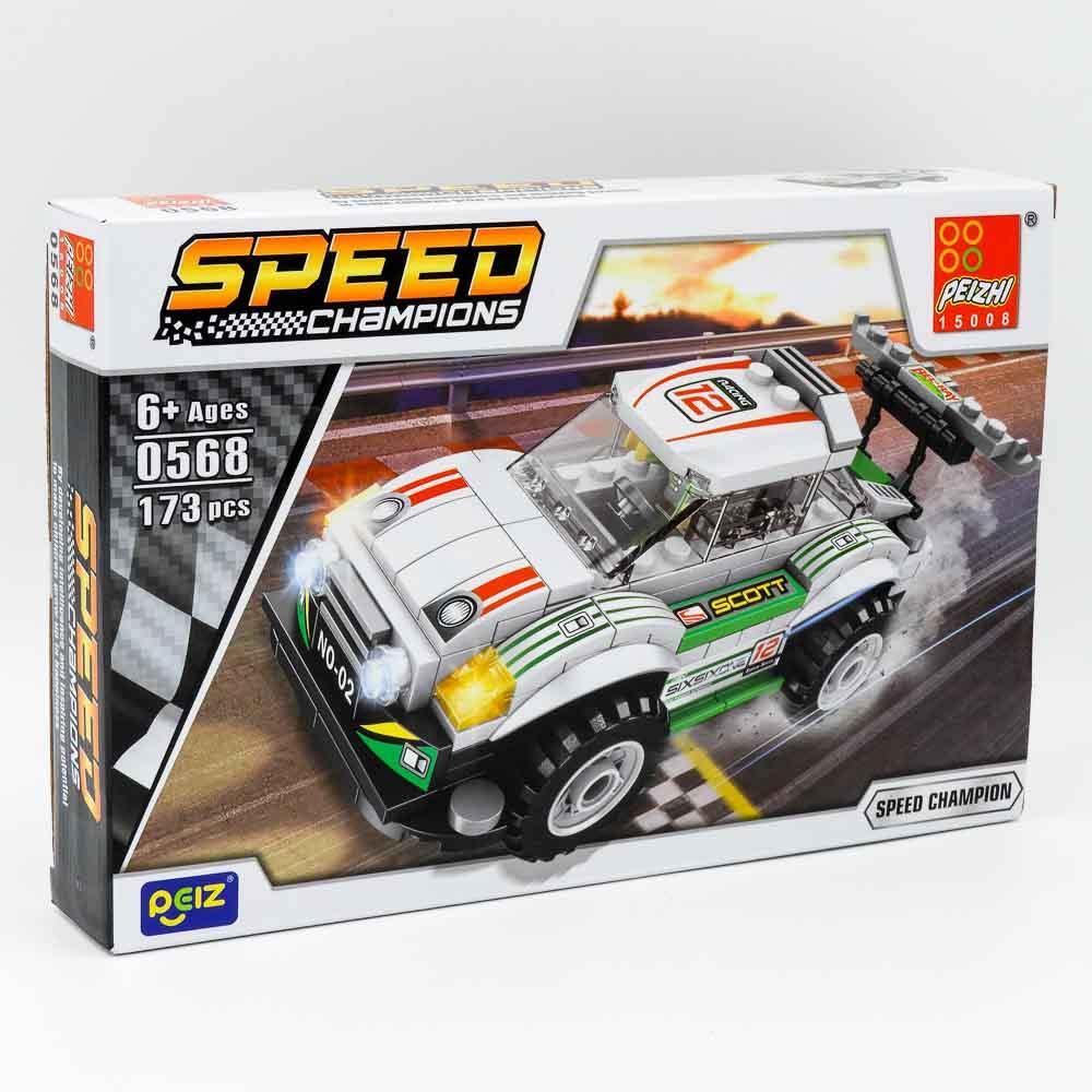 משחק הרכבה לגו מכונית מרוץ לבנה 173 חלקים K200606