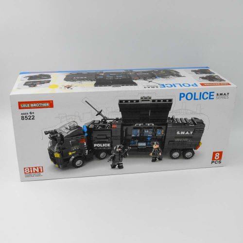 באנדל משחק הרכבה לגו משטרה ענק 618 חלקים 8 קופסאות להרכבת ניידת משטרה ענקית K200470