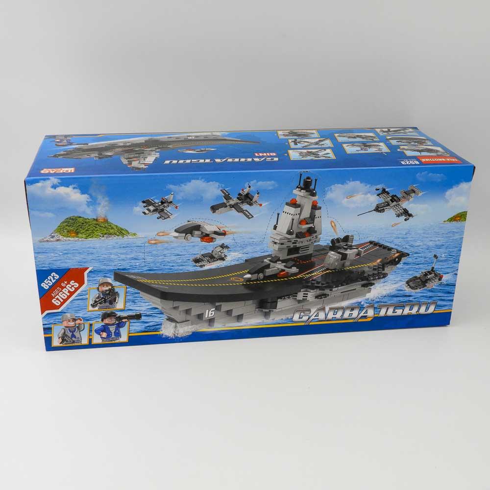 באנדל משחק הרכבה לגו כלי מלחמה ענק 676 חלקים 8 קופסאות להרכבת ספינת מלחמה ענקית K200471