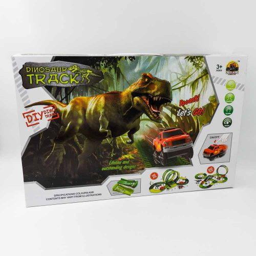 מסלול מכוניות מרוץ לילדים 3.75 מטר עם דינוזאורים K200436-1