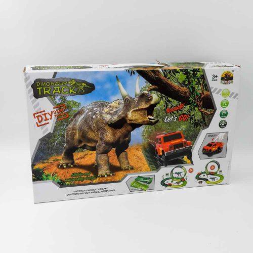 מסלול מכוניות מרוץ לילדים עם דינוזאורים 2.22 מטר K200683-1