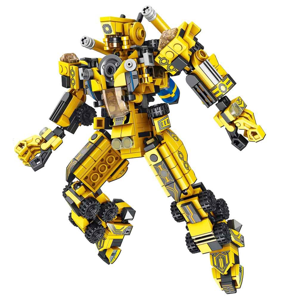 משחק הרכבה לגו רכבי עבודה ורובוט ענק 573 חלקים 2 משחקים ב-1 K200724