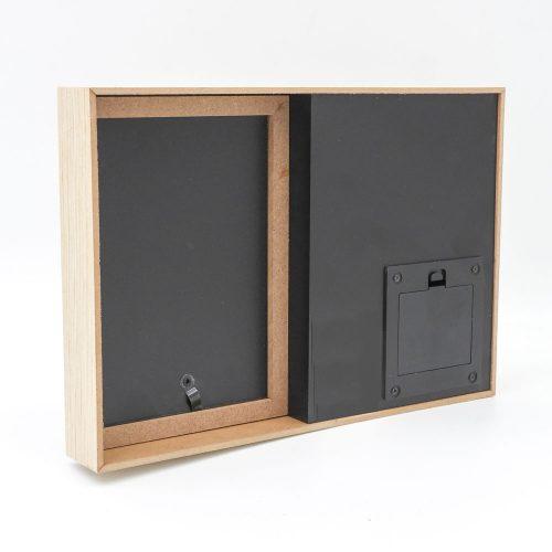 מסגרת לתמונה מעץ עם תאורה והקדשה לסבא צד אחורי