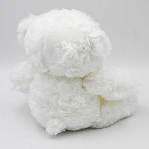 """דובי לבן חלק בגודל 29 ס""""מ צד אחורי"""