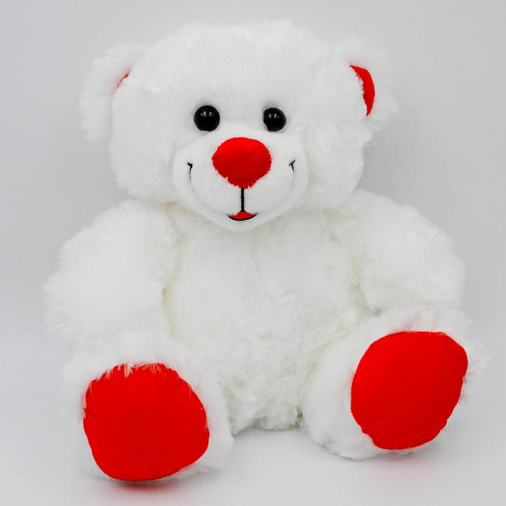 """דובי לבן חלק בגודל 29 ס""""מ K100287"""