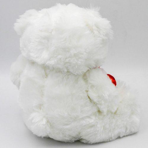 """דובי אהבה 29 ס""""מ עם 3 לבבות אדומים וזוהרים צד אחורי"""