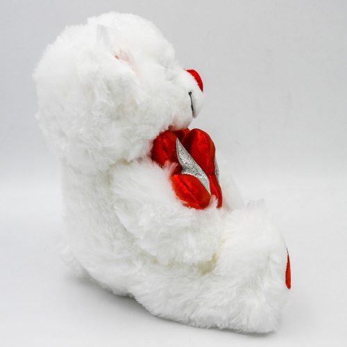 """דובי אהבה 29 ס""""מ עם 3 לבבות אדומים וזוהרים תמונת פרופיל"""