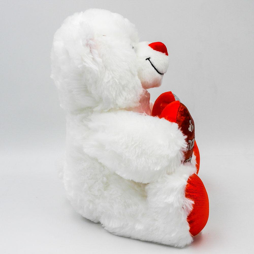 """דובי עם לב אדום 29 ס""""מ מטאלי זוהר באהבה גדולה תמונת פרופיל"""
